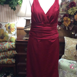 Crimson Red Drag Queen's Pageant Gown Dress Formal